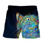 Colorful And Powerful Avatar Cat Fan Art Design Shorts - Superheroes Gears