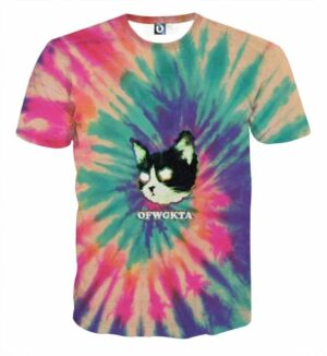 Cat Ghost Eyes Thunder Colorful Light Graphic Design T-Shirt - Superheroes Gears