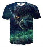 Sad Wolf Breathtaking Art Design Fashionable T-Shirt