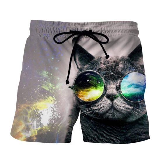 Cat Eye Sunglasses Abstract Style Streetwear Shorts - Superheroes Gears