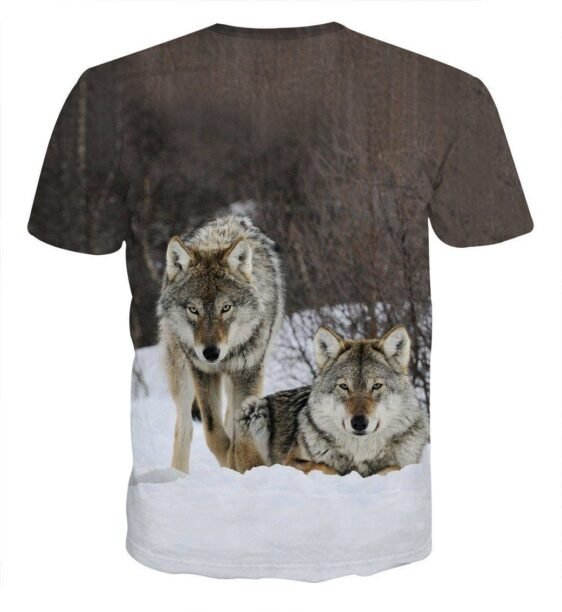 Twin Wolverine Ready Hunting Portrait Dope Design T-shirt