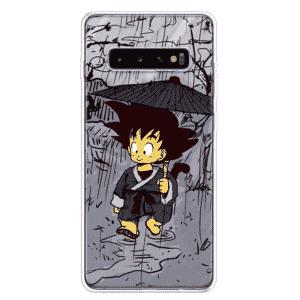 Adorable Kid Goku In The Rain Samsung Galaxy S10 Case