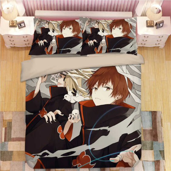 Akatsuki Sasori And Deidara Vintage Fan Art Bedding Set
