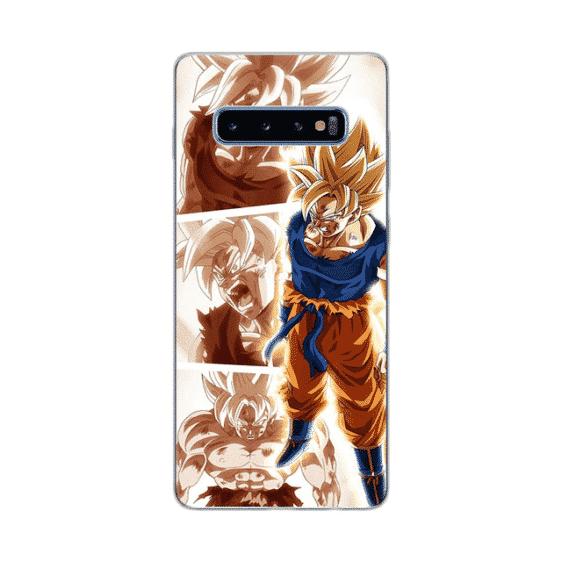 Angry Super Saiyan Goku Samsung Galaxy S10 Case