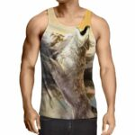 Angry Wolf Yowling In Pain Full Print Workout Tank Top