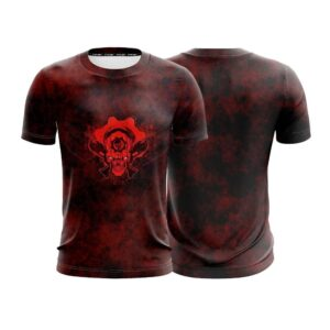 Awesome Smiling Pirate Skull With Guns Black And Red T-Shirt