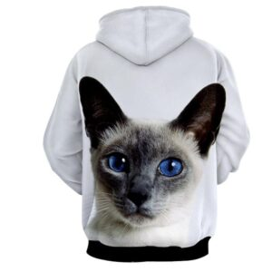 Blue Eye Cat Capturing Simple Art Design Dope Hoodie - Superheroes Gears