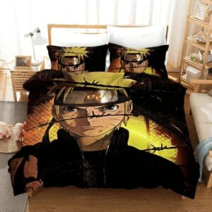 Bruised Naruto Serious Stare Perfect Sunset Bedding Set