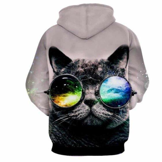 Cat Eye Sunglasses Abstract Style Streetwear Hoodie - Superheroes Gears