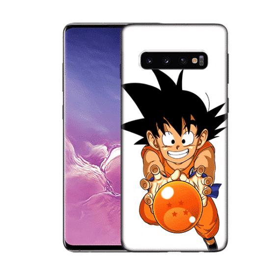 DBZ Cute Kid Goku Samsung Galaxy S10 (S10 Plus & S10E) Case