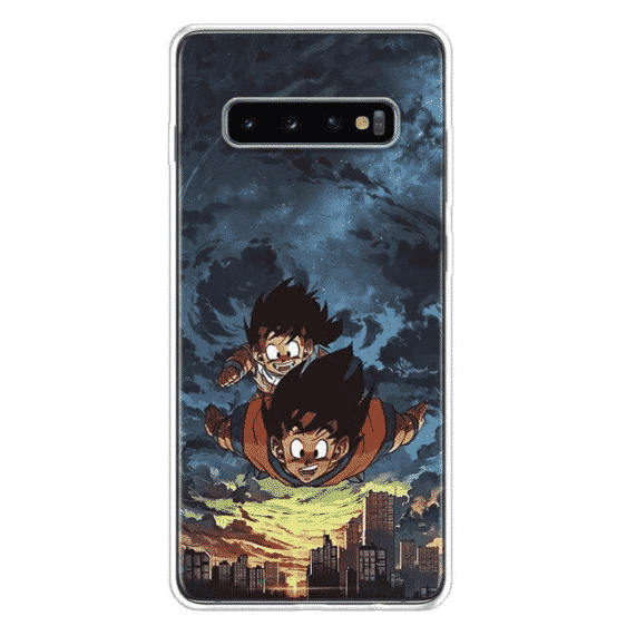 DBZ Flying Goku & Gohan Samsung Galaxy S10 Case