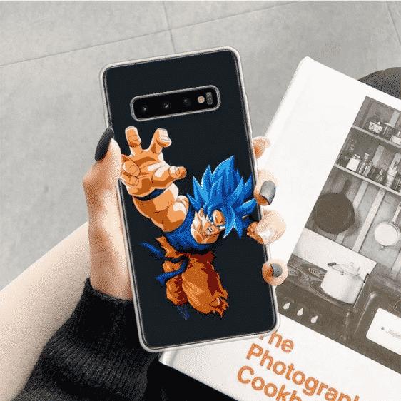 DBZ Super Saiyan Blue Goku Dash Samsung Galaxy S10 Case