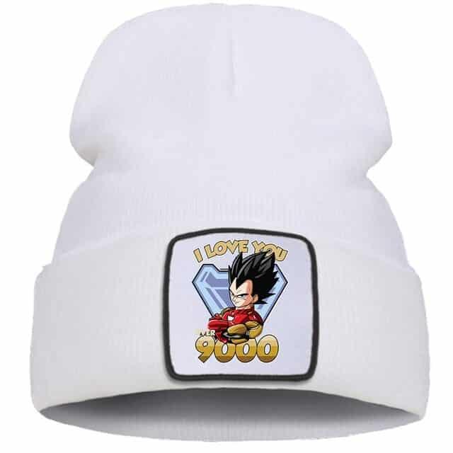 DBZ Vegeta I Love You 3000 Fan Art White Streetwear Beanie