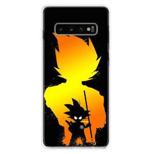 DBZ Vegeta & Kid Goku Silhouette Samsung Galaxy S10 Case