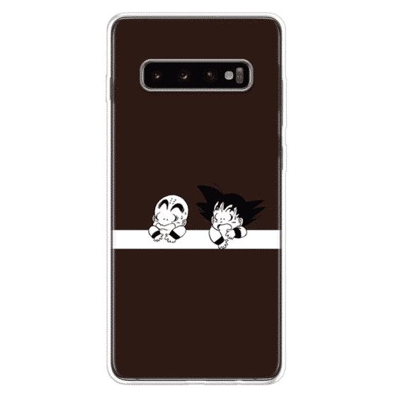 DBZ Young Goku and Krillin Samsung Galaxy S10 Case
