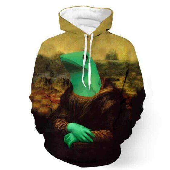 Dat Boi Frog Funny Meme Mona Lisa Parody Vintage 3D Hoodie - Superheroes Gears