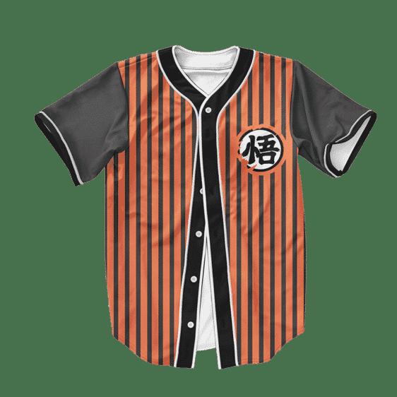 Dragon Ball Z Awesome Goku Kanji Wisdom Baseball Jersey