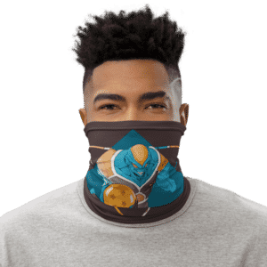 Dragon Ball Z Burter Cool Art Brown Face Covering Neck Gaiter