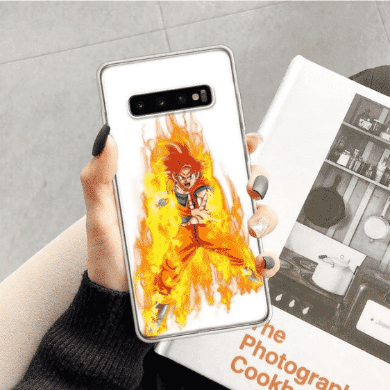 Dragon Ball Z Flaming Aura God Goku Samsung Galaxy S10 Case