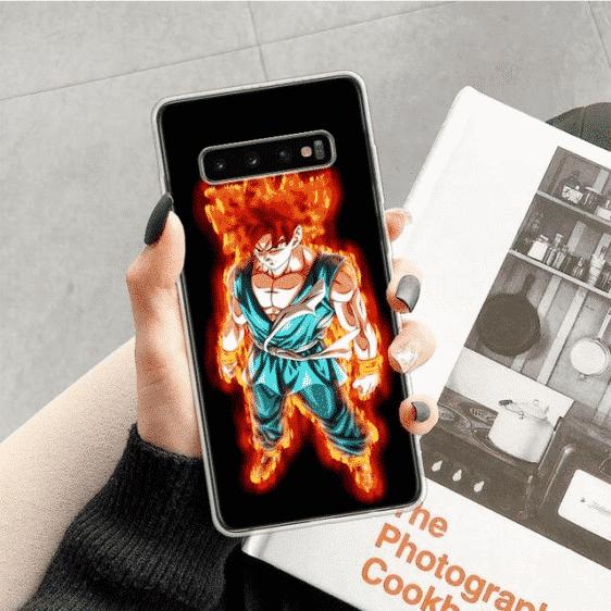 Dragon Ball Z Flaming Goku Samsung Galaxy S10 Case