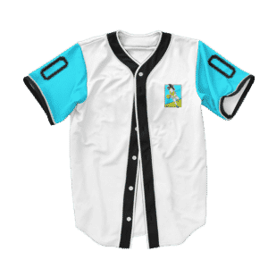 Dragon Ball Z Goku Playing Ball Art Baseball Jersey