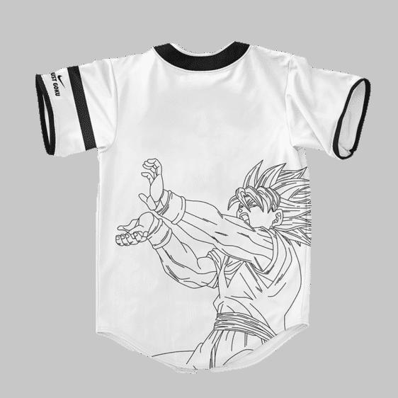 Dragon Ball Z Just Goku Nike Inspired Baseball Jersey