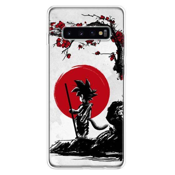 Dragon Ball Z Kid Goku Red Rising Sun Samsung Galaxy S10 Case