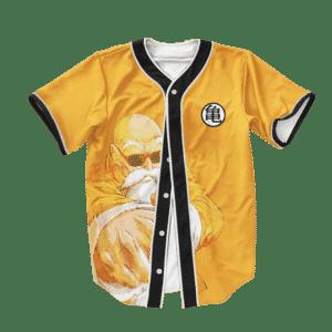 Dragon Ball Z Master Roshi Punch Turtle Kanji Baseball Jersey