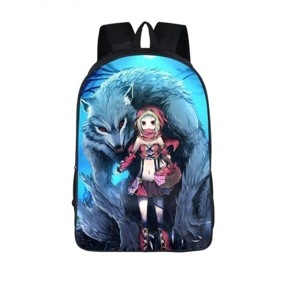 Ferocious Wolf and Red Riding Hood Fan Art Cute Backpack