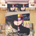 Fierce Sasuke And Naruto Shinobi Face-Off Bedding Set