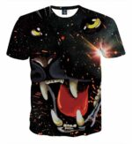 Fiery Outraged Growling Black Panther Black T-shirt