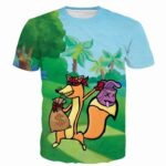 Fox Thief Stole Money Doodle Style Draw Funny Vibrant T-Shirt - Superheroes Gears