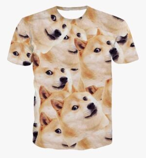 Funny Doge Meme Shiba Inu Japan Hunt Dog 3D Big Version T-Shirt - Superheroes Gears