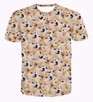 Funny Doge Meme Shiba Inu Japan Hunt Dog 3D Small Version T-Shirt - Superheroes Gears