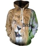 Grumpy Angry Lion Mane Bitch Funny Design Hoodie - Woof Apparel