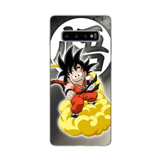 Happy Kid Goku on Cloud Samsung Galaxy S10 Case