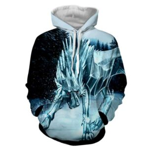Icy Wolf Defensive Canine Design Winter Snow Superb Hoodie
