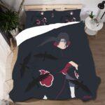 Itachi Uchiha's Crow Clone Black Minimalist Bedding Set