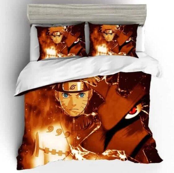 Jinchūriki Naruto And Kurama Nine-Tailed Fox Bedding Set