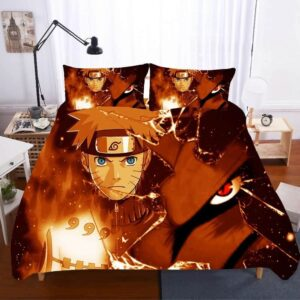 Jinchūriki Naruto And Kurama Nine-Tailed Fox Bedding Set