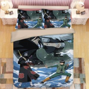 Kakashi Guy Vs Itachi Kisame Water Team Battle Bedding Set