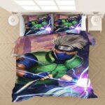 Kakashi Hatake One Eye Sharingan Vivid Fan Art Bedding Set