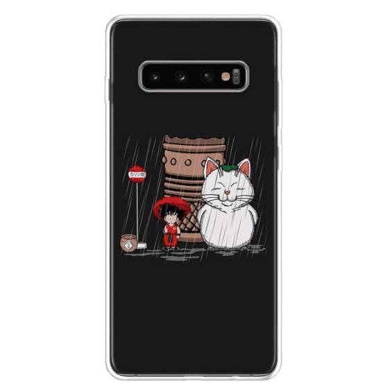 Kid Goku & Korin Under The Rain Samsung Galaxy S10 Case