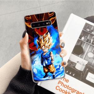 Kid Goku Super Saiyan Blue Aura Samsung Galaxy S10 Case