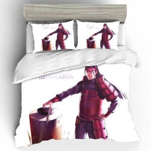 Konohagakure's First Hokage Hashirama Senju White Bedding Set