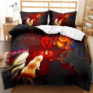Kurama And The Tailed Beasts Red Vibrant Bedding Set