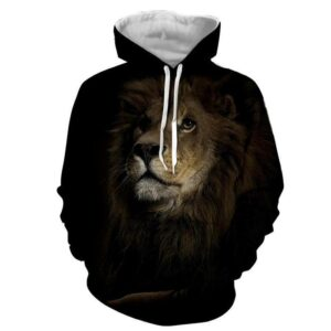Lion Animal Theme Realistic Concept Trending Style Hoodie