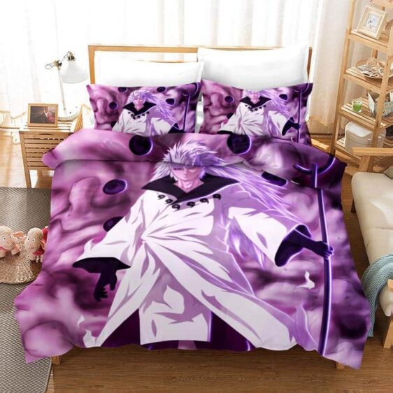 Madara Uchiha Purple Eyes Six Paths Sage Mode Bedding Set