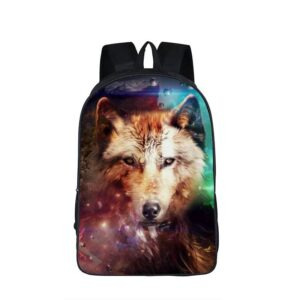 Magical Wild Wolf Canine Family Water Droplets Backpack