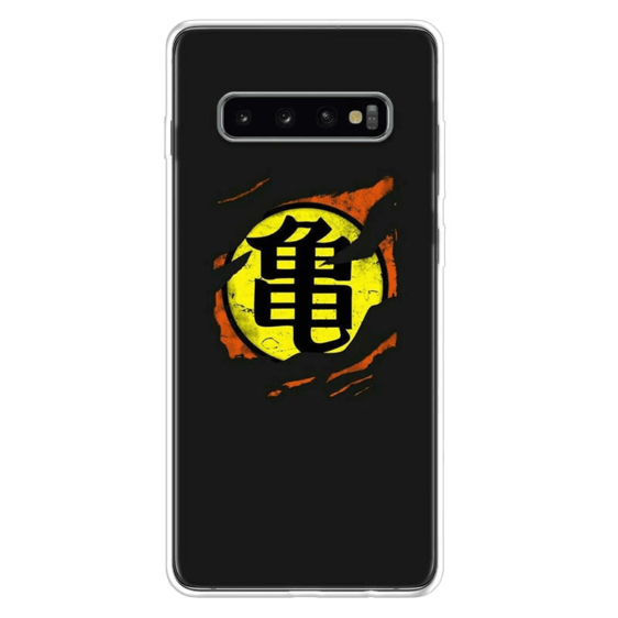 Master Roshi's Kanji Symbol Ripped Samsung Galaxy S10 Case